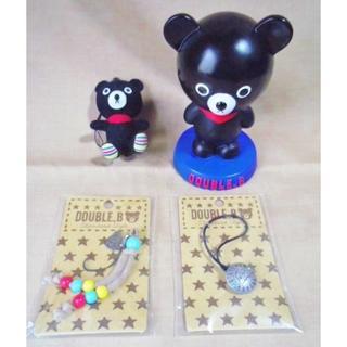 ミキハウス(mikihouse)の4点ミキハウス ダブルB貯金箱+ぬいぐるみストラップ+ヘアゴム/DOUBLE.B(キャラクターグッズ)