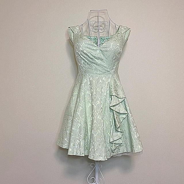 ROBE(ローブ)のローブドフルール フレア ドレス グリーン レディースのフォーマル/ドレス(ミニドレス)の商品写真