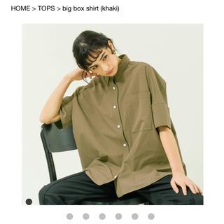 エンフォルド(ENFOLD)のyonfa ビッグシルエットシャツ(シャツ/ブラウス(半袖/袖なし))