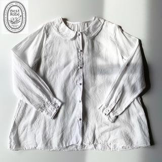 ネストローブ(nest Robe)のnest Robe 重ね襟のギャザーリネンブラウス Aラインシルエット ゆったり(シャツ/ブラウス(長袖/七分))