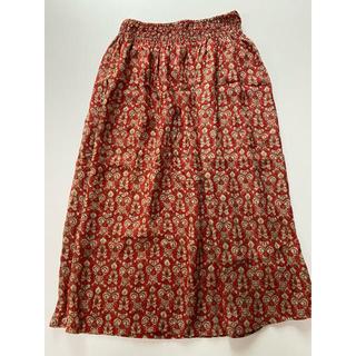アニエスベー(agnes b.)のお値打ち^ ^   アニエスベー シルク100% スカート  新品(ロングスカート)