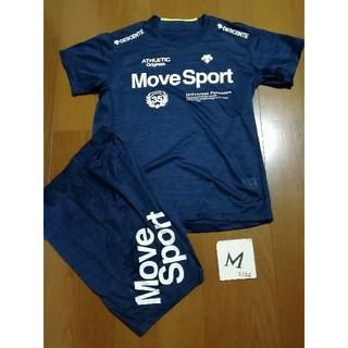 DESCENTE - DESCENTE Move Sport ロゴT &パンツM ネイビー未使用タグ付