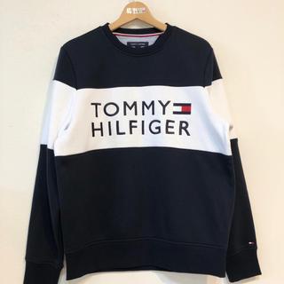 トミーヒルフィガー(TOMMY HILFIGER)の復刻版 ビッグロゴ トレーナー パーカー トミー ヒルフィガー スウェット 新品(スウェット)