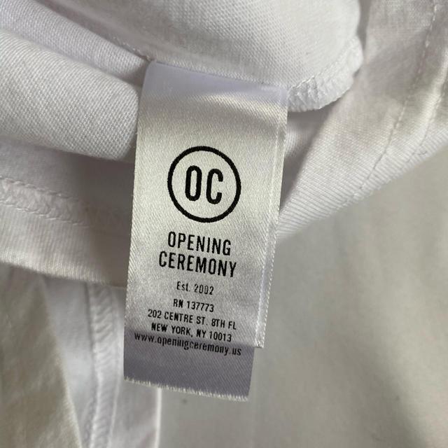 OPENING CEREMONY(オープニングセレモニー)の美品 オープニングセレモニー 白 ロゴ Tシャツ サイズXS LA購入品 レディースのトップス(Tシャツ(半袖/袖なし))の商品写真