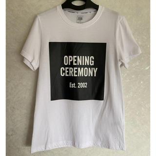 OPENING CEREMONY - 美品 オープニングセレモニー 白 ロゴ Tシャツ サイズXS LA購入品