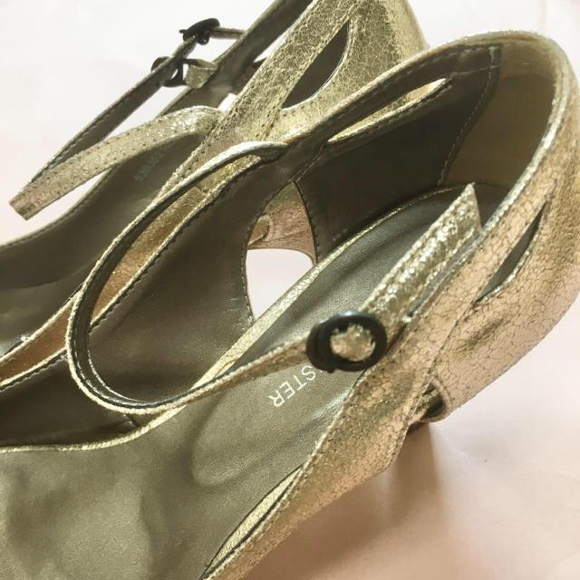 AU BANNISTER(オゥバニスター)のpipipi様専用 Au BANNISTER パンプス ゴールド レディースの靴/シューズ(ハイヒール/パンプス)の商品写真