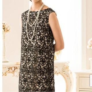キャサリンコテージ(Catherine Cottage)の新品タグ付き☆透かし花柄レースのIラインドレス(ミディアムドレス)