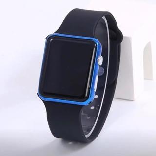 LEDウォッチ メタルフレーム ホットスクエアミラーフェイス(腕時計(デジタル))