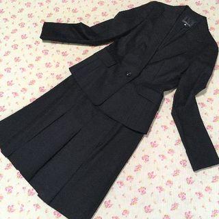 クリアインプレッション(CLEAR IMPRESSION)のクリアインプレッション スカートスーツ 1 W62 就活 黒 OL DMW(スーツ)