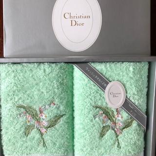 クリスチャンディオール(Christian Dior)のディオール ウォッシュタオル 2枚(タオル/バス用品)