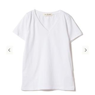 レイビームス(Ray BEAMS)のRay BEAMS / コットン 天竺 Vネック Tシャツ S ホワイト(Tシャツ(半袖/袖なし))