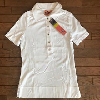 トリーバーチ(Tory Burch)のトリーバーチ ポロシャツ 白 未使用タグ付き(ポロシャツ)