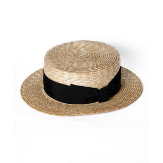 エイミーイストワール(eimy istoire)のeimyistoire 新品タグ付き boater hat(麦わら帽子/ストローハット)