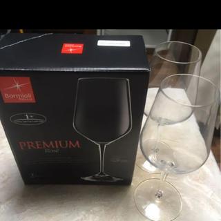 ボルミオリロッコ(Bormioli Rocco)の美品 Bormiolo Rocco ワイングラス プレミアムロゼ ペア(グラス/カップ)