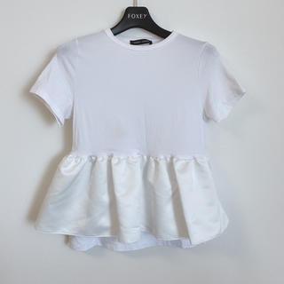 フォクシー(FOXEY)のYOKOCHAN フリルTシャツ【シミ数箇所あり】(Tシャツ(半袖/袖なし))