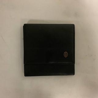 Cartier - 美品本物カルティエCartier二つ折りコインケース小銭入れ財布サイフ黒ブラック