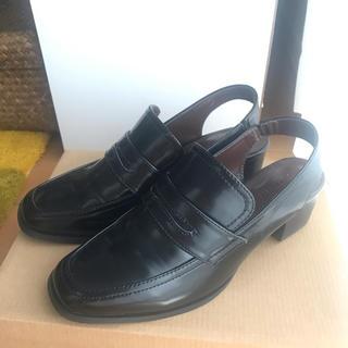 アーバンリサーチ(URBAN RESEARCH)の【アーバンリサーチ】ローファーサンダル(黒 37)(ローファー/革靴)