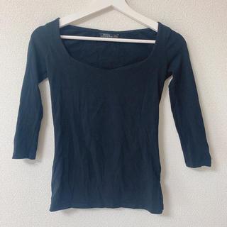 ベルシュカ(Bershka)のBershka ベルシュカ カットソー 黒 ブラック(Tシャツ(長袖/七分))