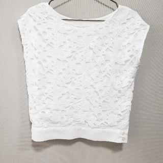 エニィスィス(anySiS)の白ブラウス(シャツ/ブラウス(半袖/袖なし))