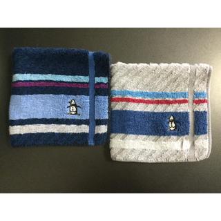 マンシングウェア(Munsingwear)のマンシングウェア タオルハンカチ 2枚セット(ハンカチ/ポケットチーフ)