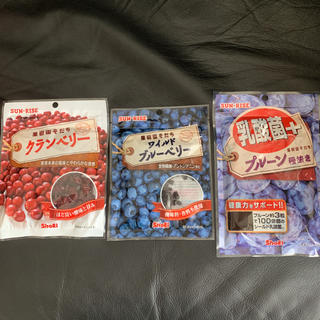 プルーン種抜き ブルーベリー クランベリー 3袋(フルーツ)