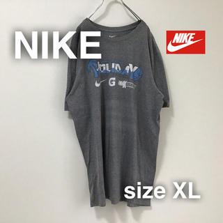 ナイキ(NIKE)のNIKE ナイキ Tシャツ バックプリント フロントロゴ XL グレイ ゆるだぼ(Tシャツ/カットソー(半袖/袖なし))