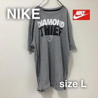 ナイキ(NIKE)のNIKE ナイキ Tシャツ L DRI-FIT グレイ ゆるだぼ(Tシャツ/カットソー(半袖/袖なし))