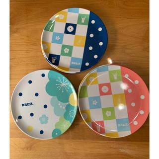 アサヒ(アサヒ)のカルピス メラミン樹脂のお皿 3種×2枚 6枚(ノベルティグッズ)