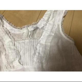 エディットフォールル(EDIT.FOR LULU)のsoft gray コットンリネンブラウス (シャツ/ブラウス(半袖/袖なし))