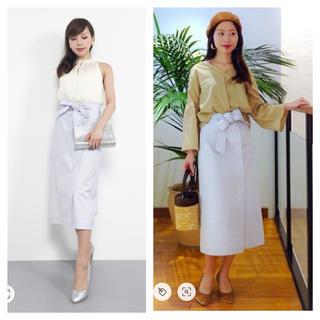 シップスフォーウィメン(SHIPS for women)のリボンベルトラップスカート (ロングスカート)