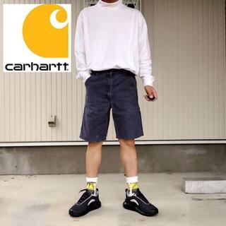 カーハート(carhartt)の【カーハート】希少90sメキシコ製 W32 ネイビー ダック ショーパンツ(ショートパンツ)