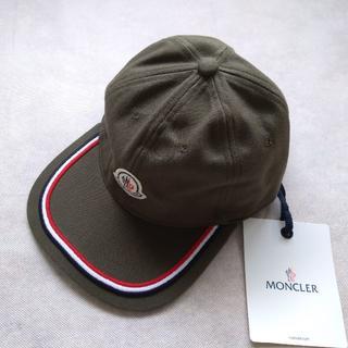 モンクレール(MONCLER)の【新品未使用】MONCLER モンクレール キャップ ロゴ ライン カーキー(キャップ)