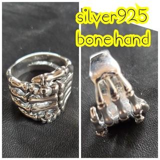 クレイジーピッグ(CRAZY PIG)のsilver925 bone hand Ring リング(リング(指輪))