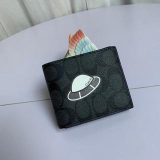 コーチ(COACH)のCOACH財布 コーチ二つ折り財布 F29315 UFOプリント メンズ財布(折り財布)
