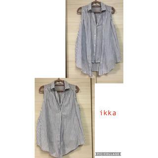 イッカ(ikka)のikka ノースリーブシャツ 2way  Mサイズ(シャツ/ブラウス(半袖/袖なし))