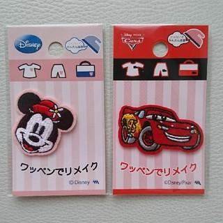 ディズニー(Disney)の★新品★ディズニー カーズ ミニー ワッペン(ネームタグ)