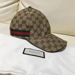 グッチ(Gucci)の正規品GUCCIグッチ GGキャンパス キャップ S ベージュ(キャップ)