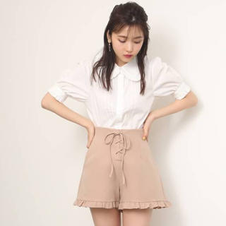 one after another NICE CLAUP - フリルレースアップショートパンツ 定価¥4,290