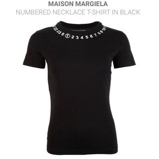 マルタンマルジェラ(Maison Martin Margiela)の[新品]メゾンマルジェラ ナンバー ネックライン Tシャツ Mサイズ(Tシャツ(半袖/袖なし))