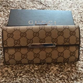 グッチ(Gucci)のGUCCI長財布GG柄キャンパスベージュブラウン(長財布)