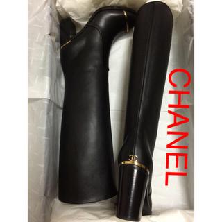 CHANEL - 追加画像 CHANELロングブーツ35.5 (35ハーフ)22.5cm 本革