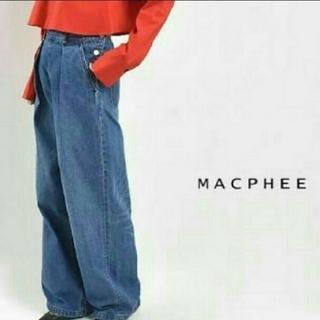 TOMORROWLAND - MACPHEE マカフィー タックワイドデニムパンツ