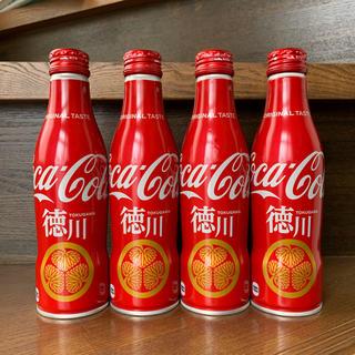 コカコーラ(コカ・コーラ)のコカ・コーラ スリムボトル 地域限定ボトル 徳川デザイン×4 ご当地ボトル(ノベルティグッズ)