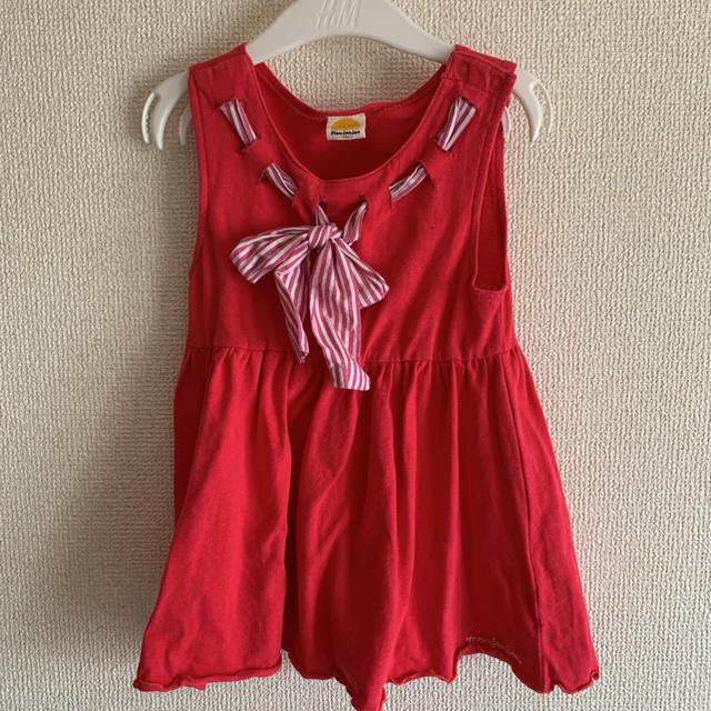 mou jon jon(ムージョンジョン)のピンク ワンピース キッズ/ベビー/マタニティのキッズ服女の子用(90cm~)(ワンピース)の商品写真