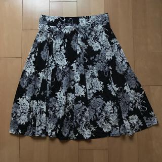 アビステ(ABISTE)の花柄 フレアスカート(ひざ丈スカート)