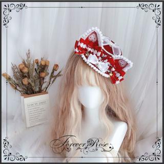 ロリータ 帽子 シルクハット ヘッドドレス 猫耳 ねこ耳 コスプレ ハロウィン