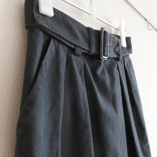 アングローバルショップ(ANGLOBAL SHOP)の【日本製】 アングローバルショップ Fordmills ベルト付き膝丈スカート(ひざ丈スカート)