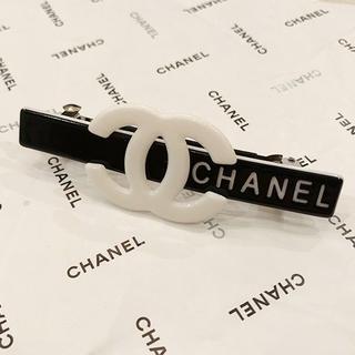 シャネル(CHANEL)のCHANEL シャネル バレッタ ヘアークリップ ブラック(バレッタ/ヘアクリップ)
