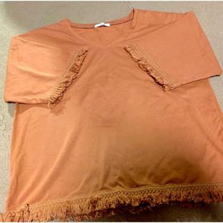 ハニーズ(HONEYS)のフリンジテラコッタ(Tシャツ(半袖/袖なし))