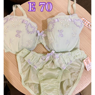 tutuanna - 【新品】E 70 刺繍ブラ 上下セット